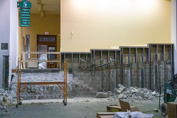 Ministries Center undergoing Renovations.