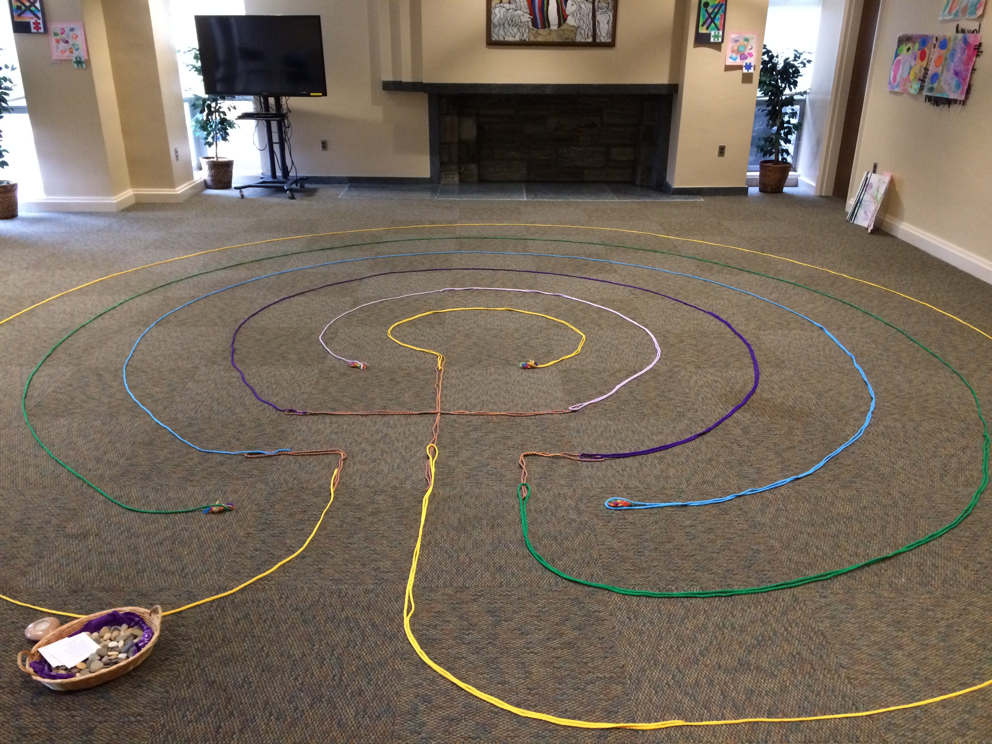 Indoor Rope Labyrinth