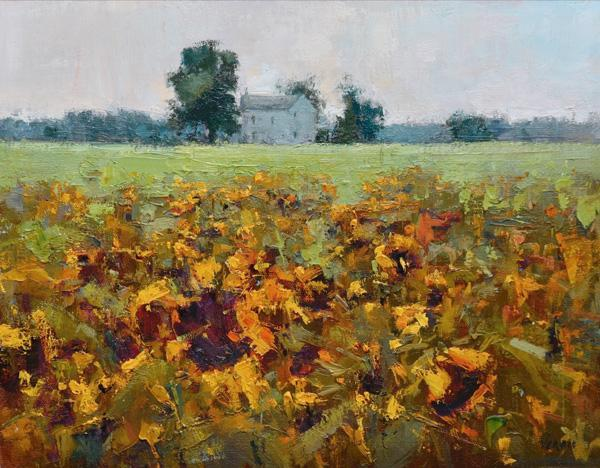 "Painting titled ""Facing East""  by Valerie Craig, artist and member of Bryn Mawr Presbyterian Church"