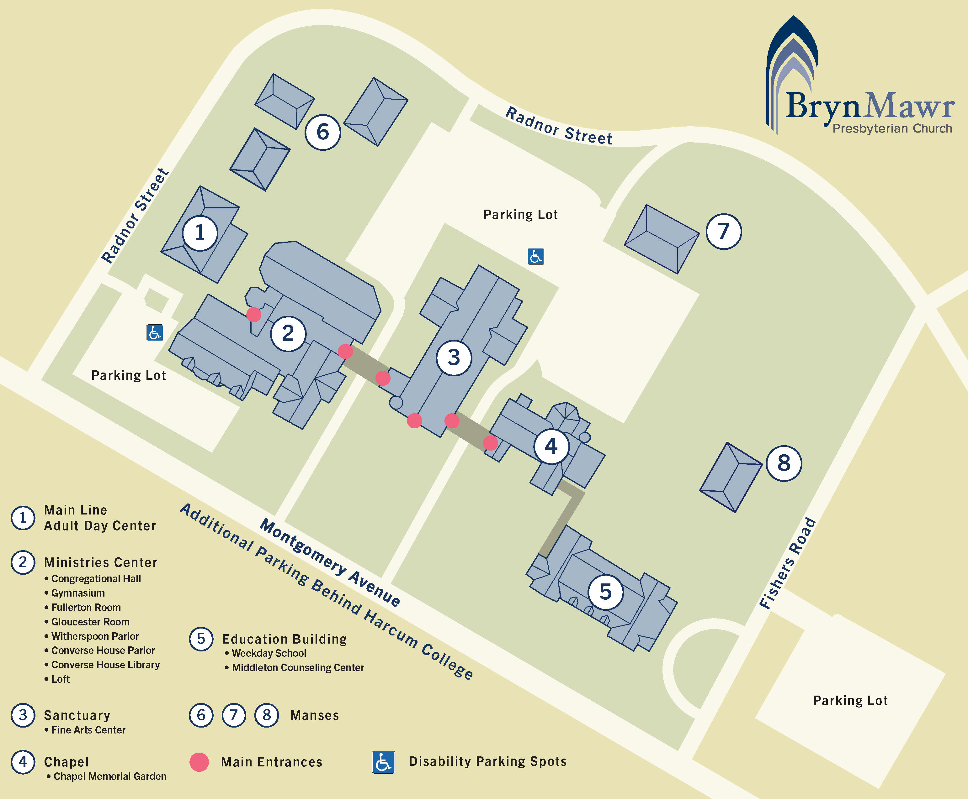 Bryn Mawr Presbyterian Church Overview Map